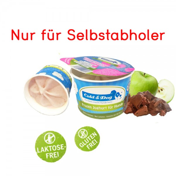 Frozen Joghurt mit Geflügel-Leberwurst & Apfel 90ml