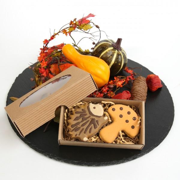 Igel und Pilz Keks (Geschenkbox)
