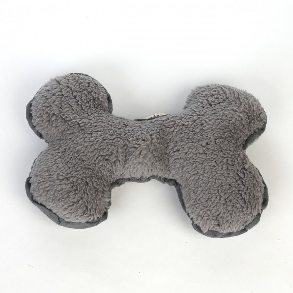 Plüschknochen aus Lammwolle (grau)