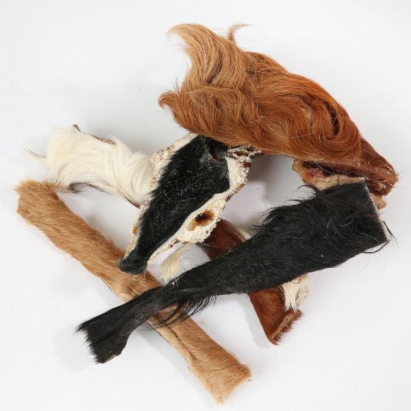 Rinderkopfhaut Streifen mit Fell