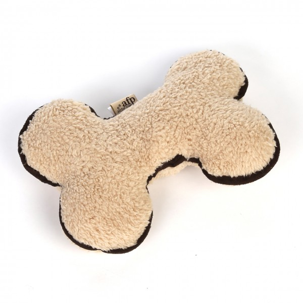 Plüschknochen aus Lammwolle (hellbraun)
