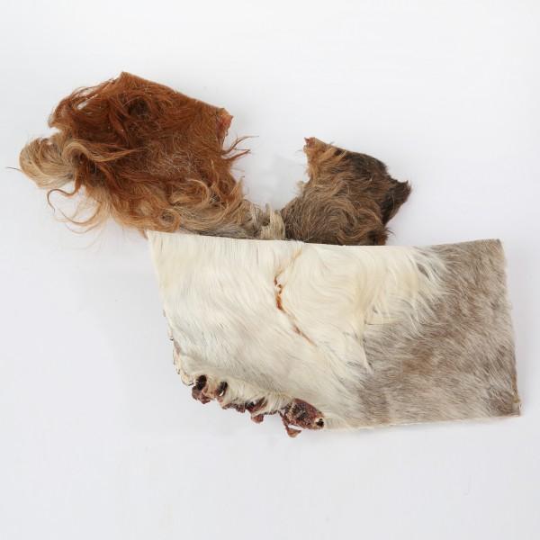Rinderkopfhautplatte mit Fell