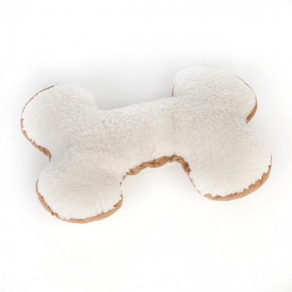 Plüschknochen aus Lammwolle (weiß)